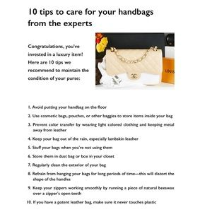 How to take care of your Luxury Hand Bag 🤗
